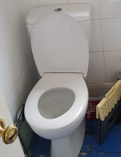 Before bathroom toilet